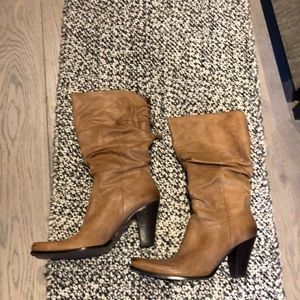 Tan cowboy inspired boots